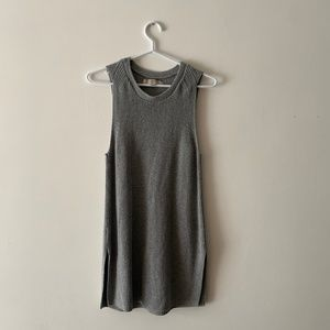 LOFT GRAY SWEATER TANK TOP